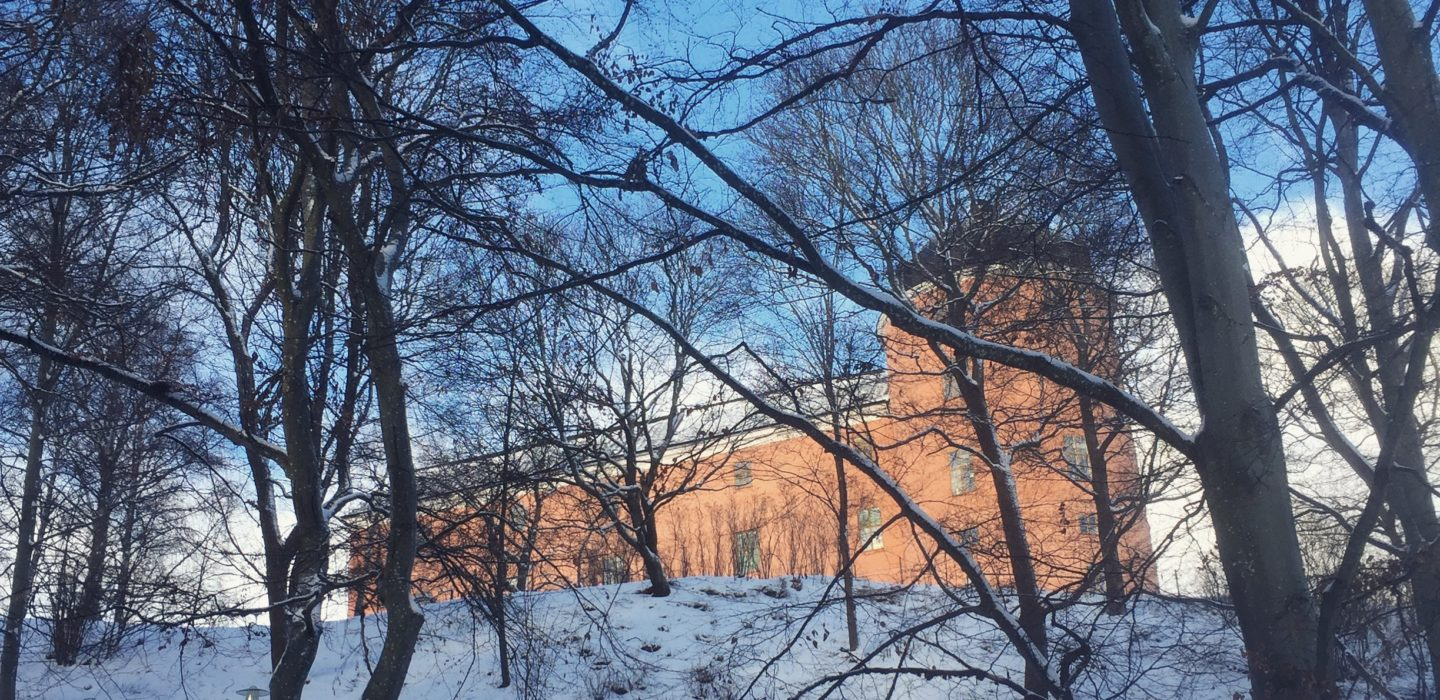 Uppsala Castle in the snow