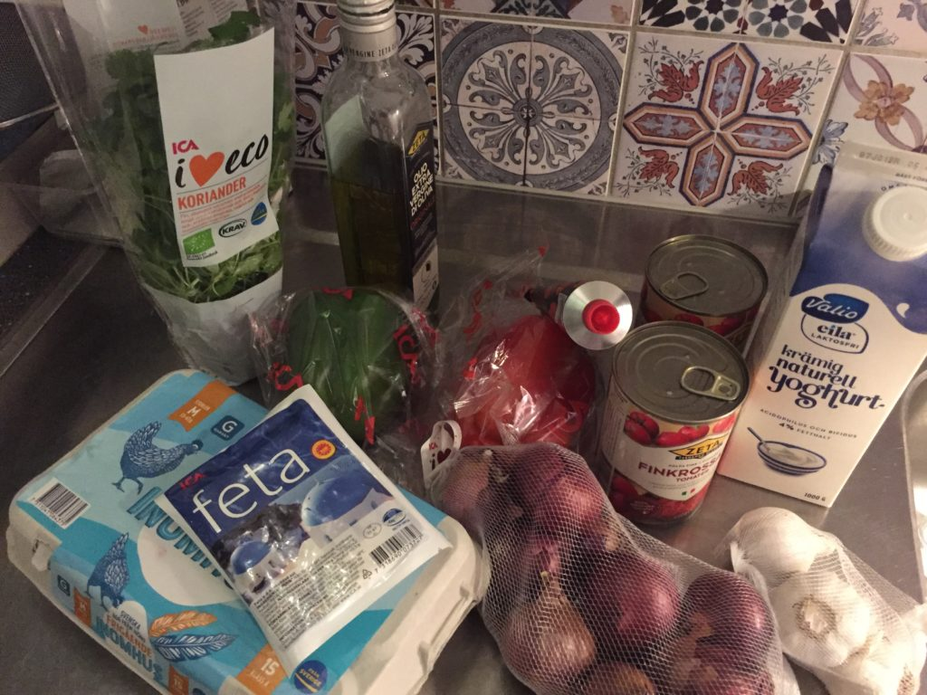 Ingredients for shakshuka
