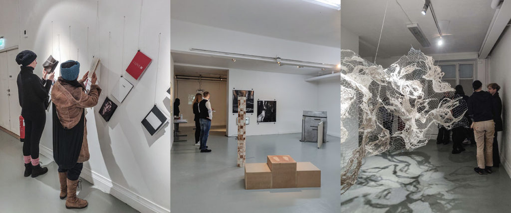 Some different installations from exhibitions at Valand Academy, University of Gothenburg