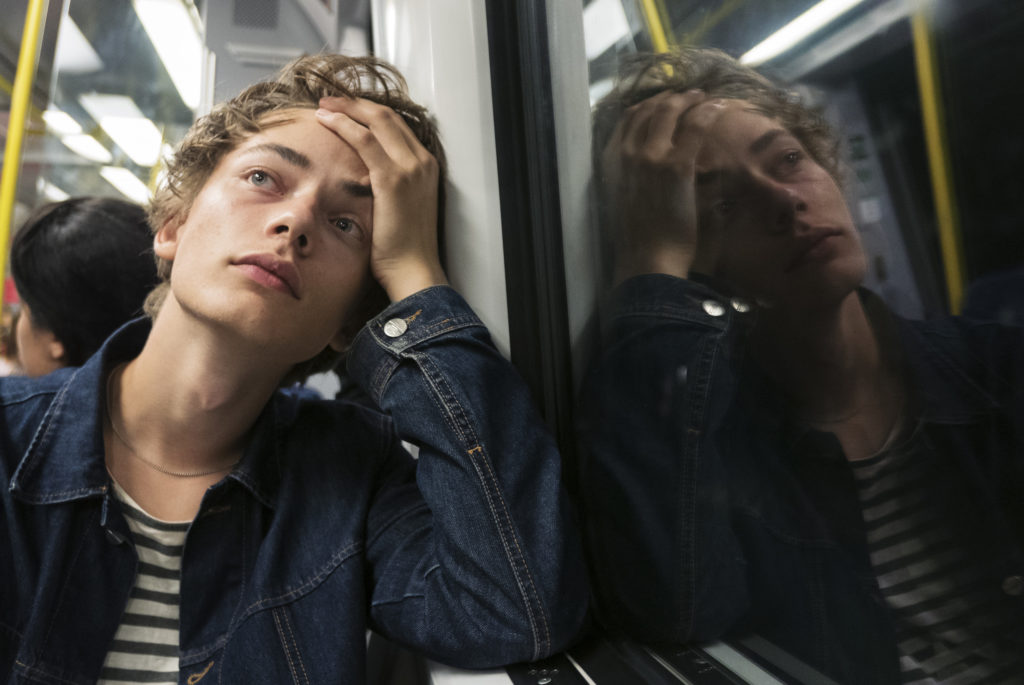 Young man on the subway