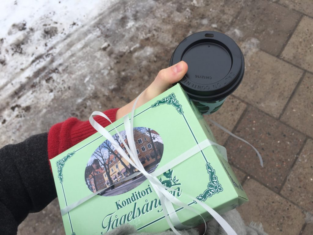 A gift-wrapped semla box! / Photo credits: Emma