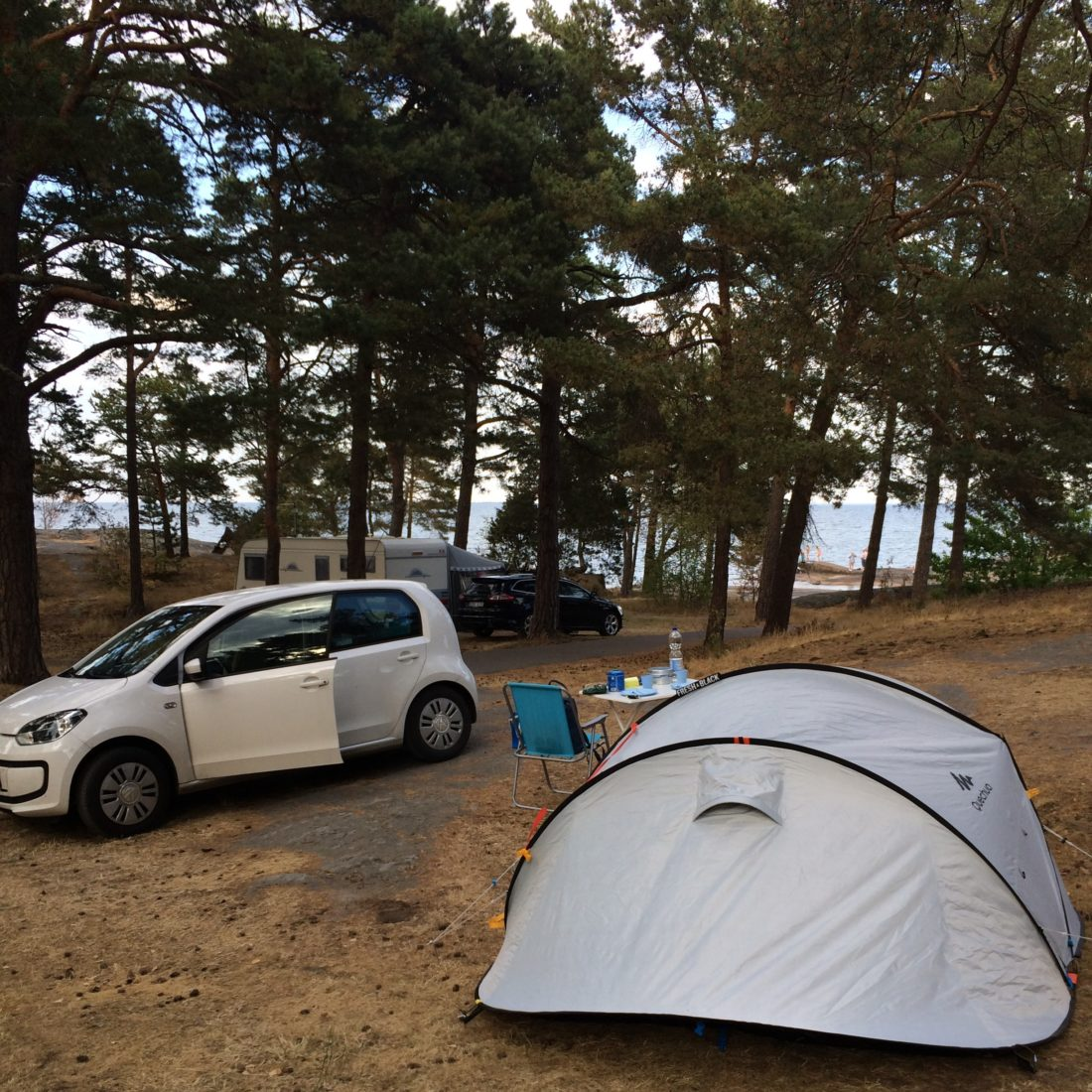 Our spot with view on the Baltic Sea/ Credit: Katharina