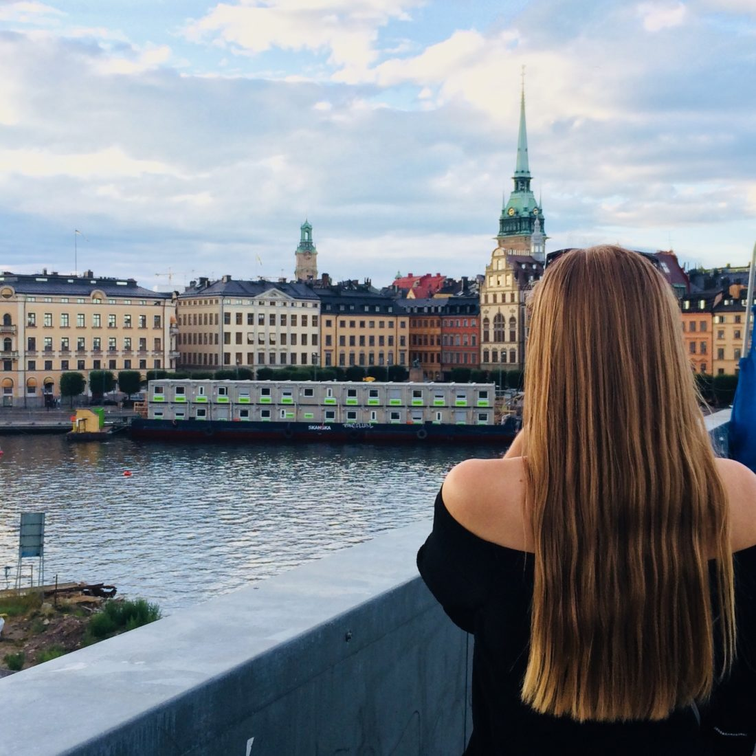 My friend looking at the Old Town/ Credit: Katharina
