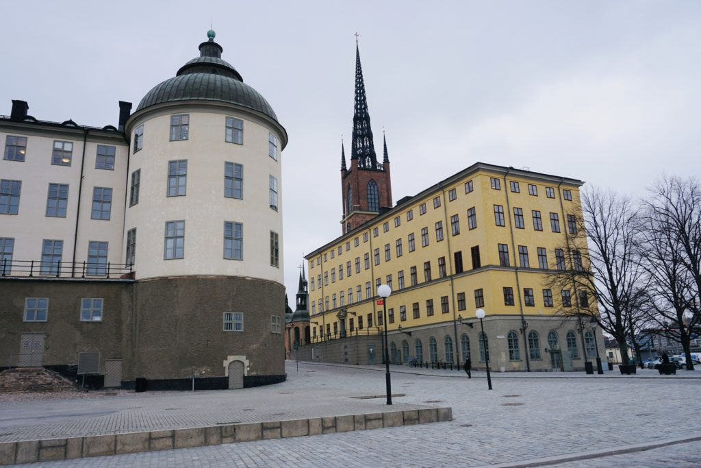 Riddarholmen Church in the back; Svea Court of Appeal to the left/ Credit: Katharina