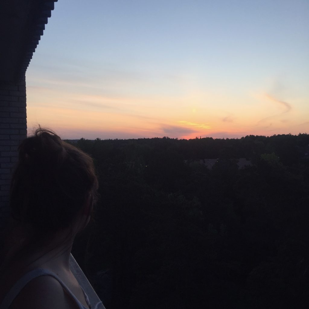 Sunrise in Flogsta, 3:45am / Photo credit: Emma