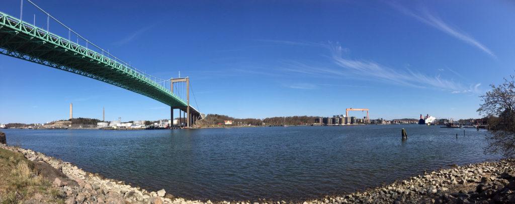 Götaälvbron bridge stretching across the river in Gothenburg