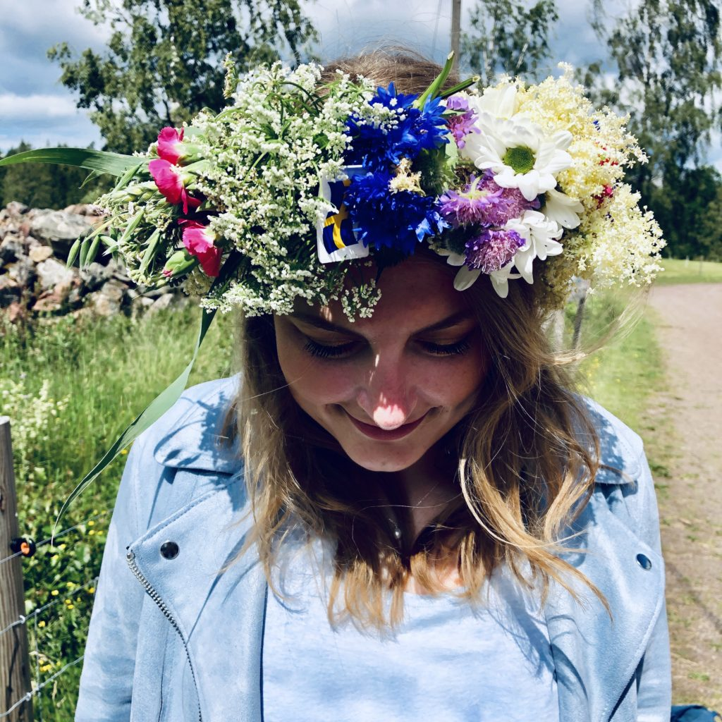 Me and my midsommar krans/ Credit: Katharina