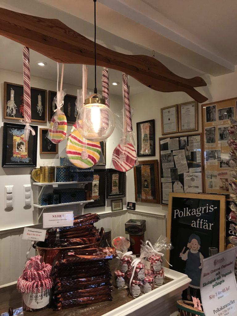 Polkagris store in Gränna/ Credit: Katharina