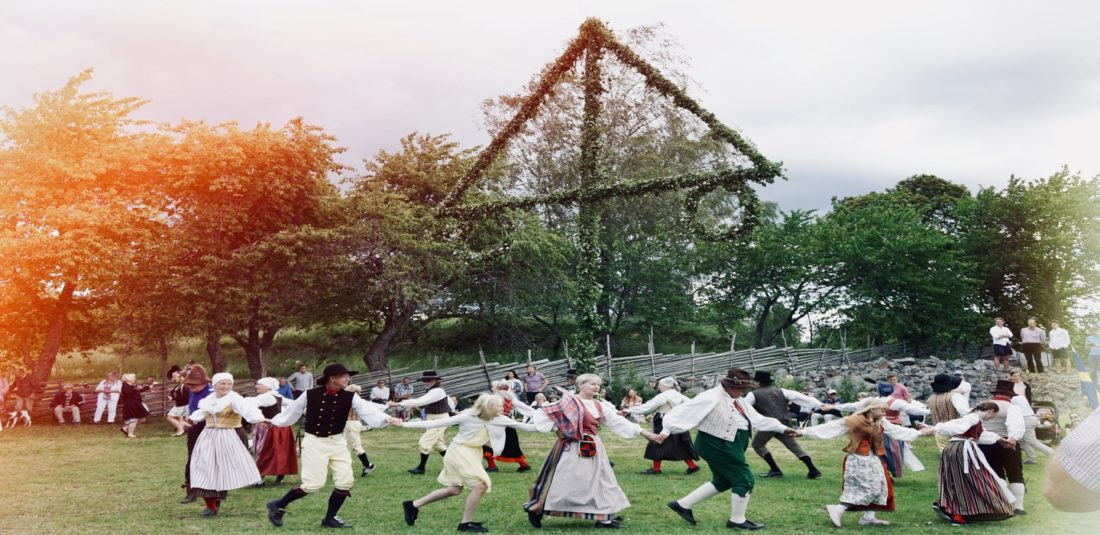 Dancing around the maypole/ Credit: Katharina