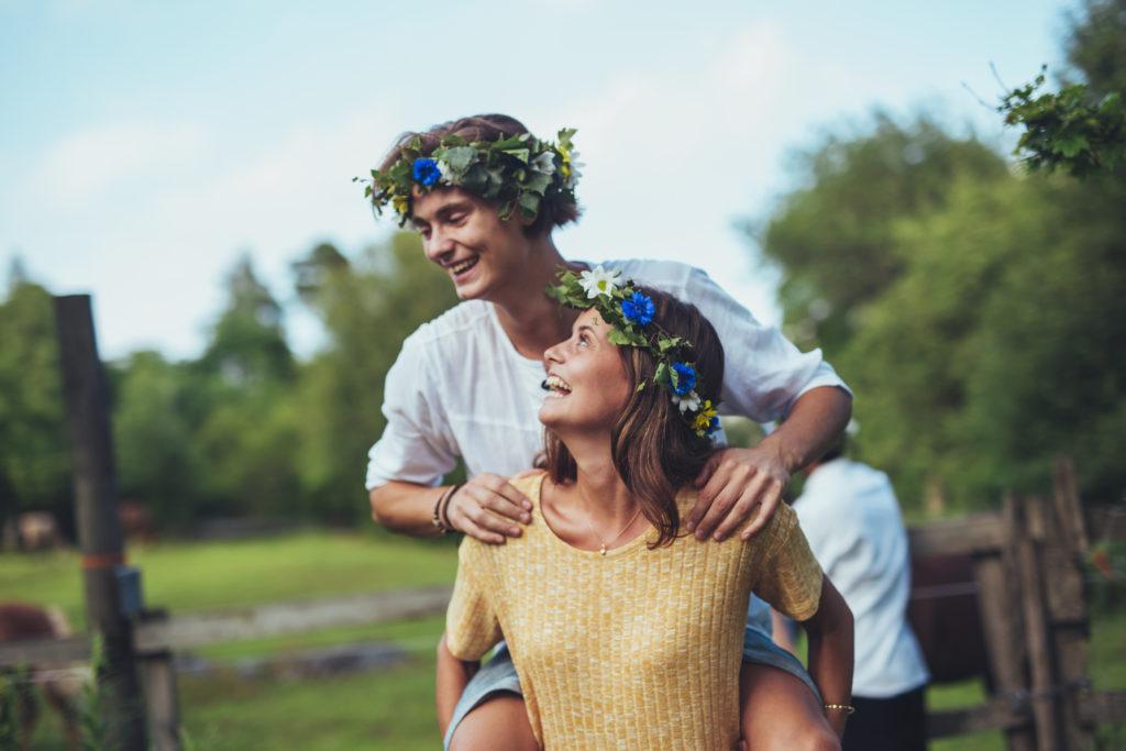 Midsummer happiness/ Credit: Faramarz Gosheh/imagebank.sweden.se