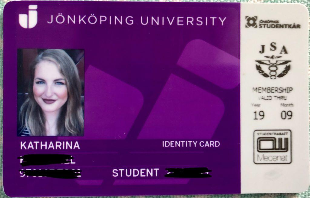 My JU student ID/ Photo: Katharina