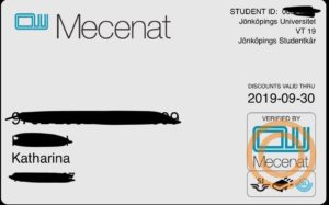 My Mecenat card/ Photo: Katharina