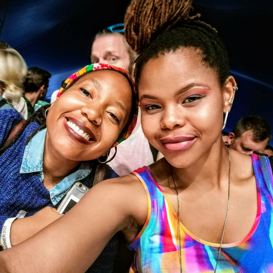 Me (right) and my friend Nthupula (left) from South Africa, before watching Khruangbin at WOW. Photo: Lusanda