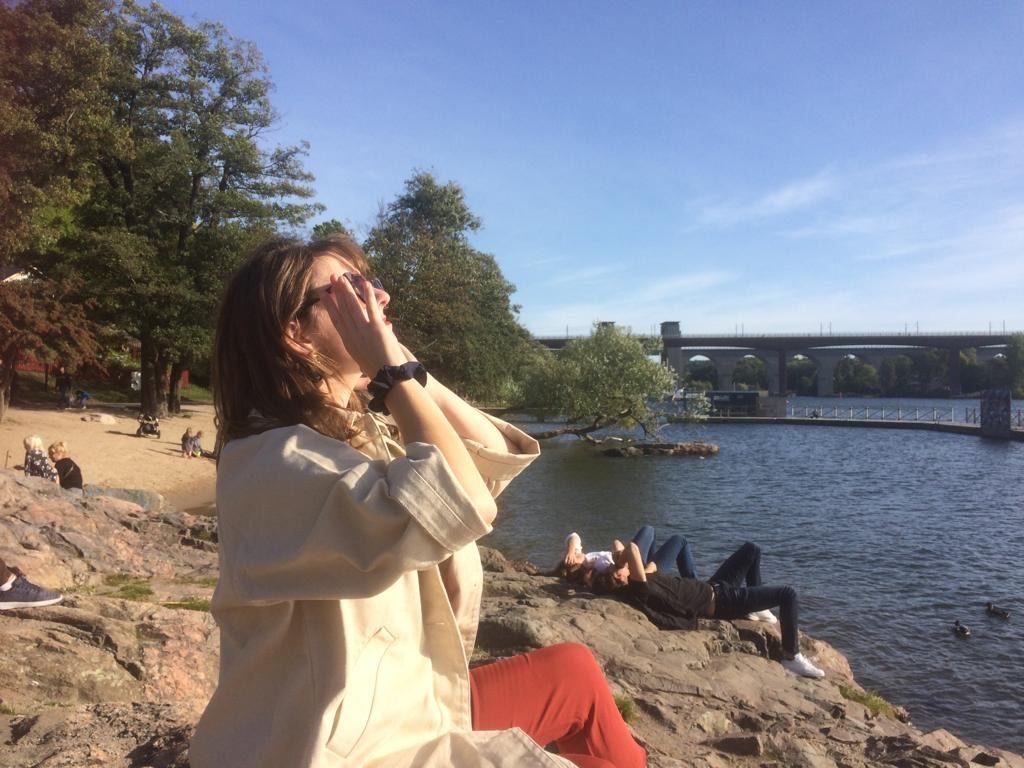 Taking in the autumn sun on Södermalm
