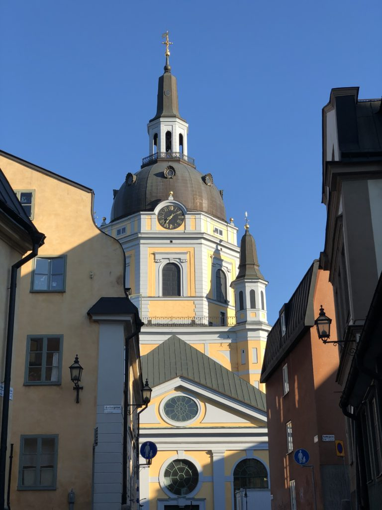 Early evening (or late morning, I can't remember), a church on Södermalm, Stockholm