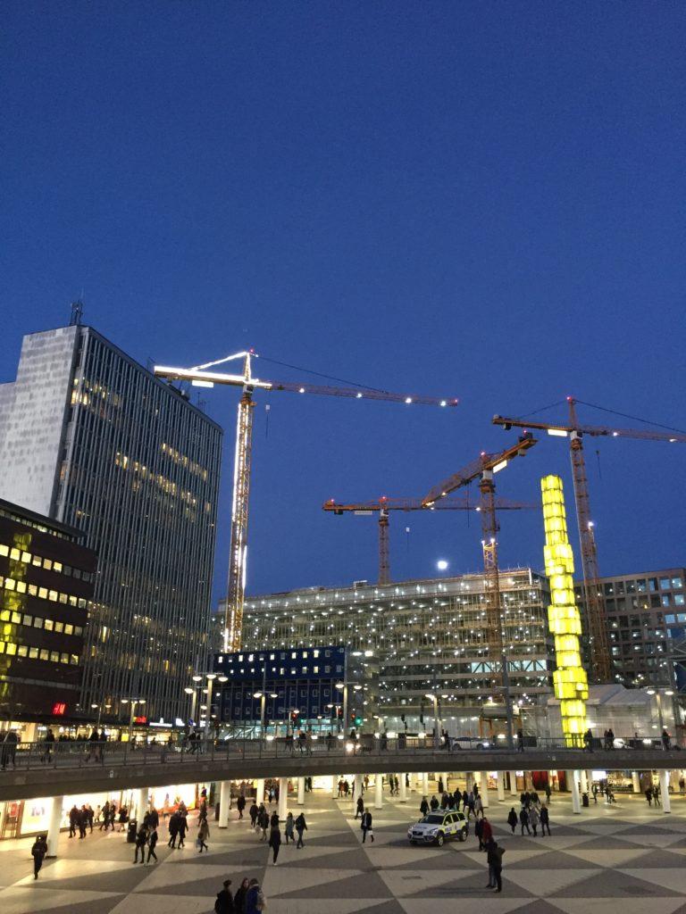 Evening light in winter-spring Stockholm