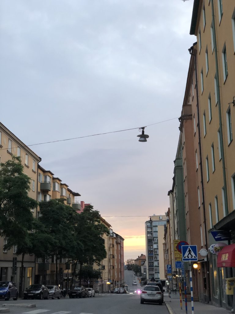 A 3am walk home in Stockholm, Summer 2019