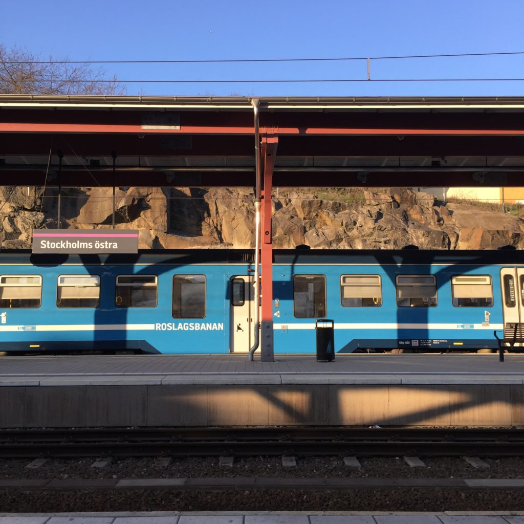 A train in Stockholm