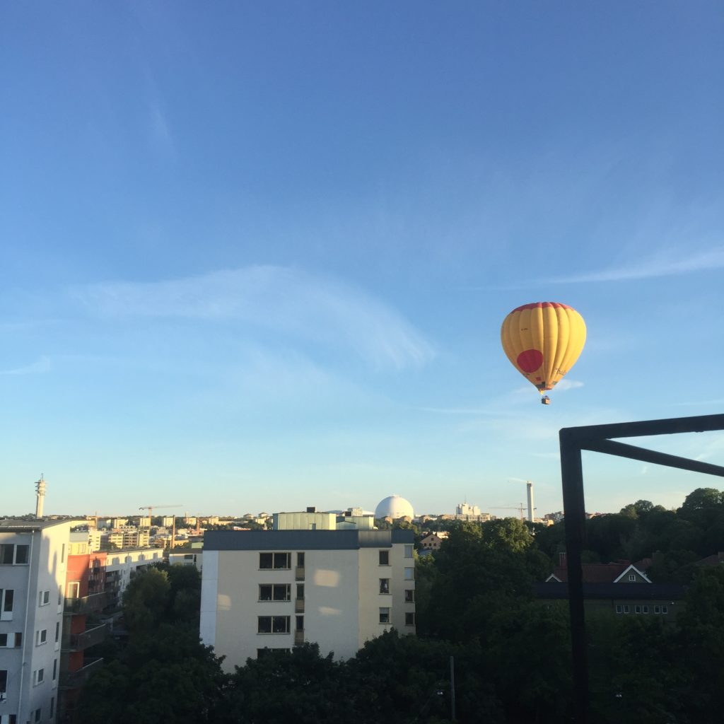 Hot air balloon in Sofia, Stockholm