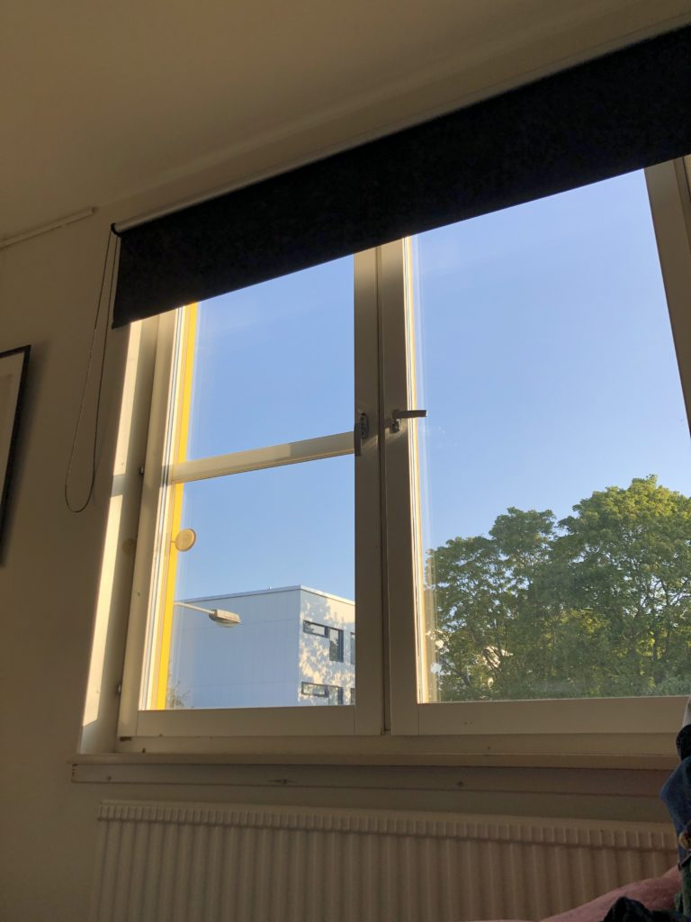 A student room in early August morning