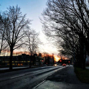 Sunset in Borås