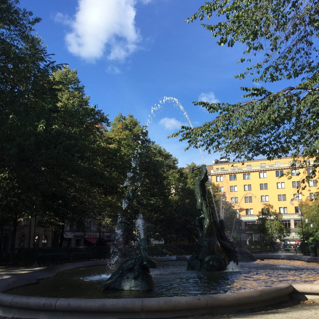 Mariatorget fountain