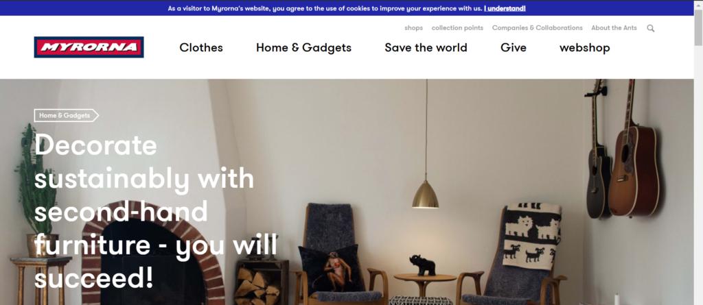 Myorna web screenshot