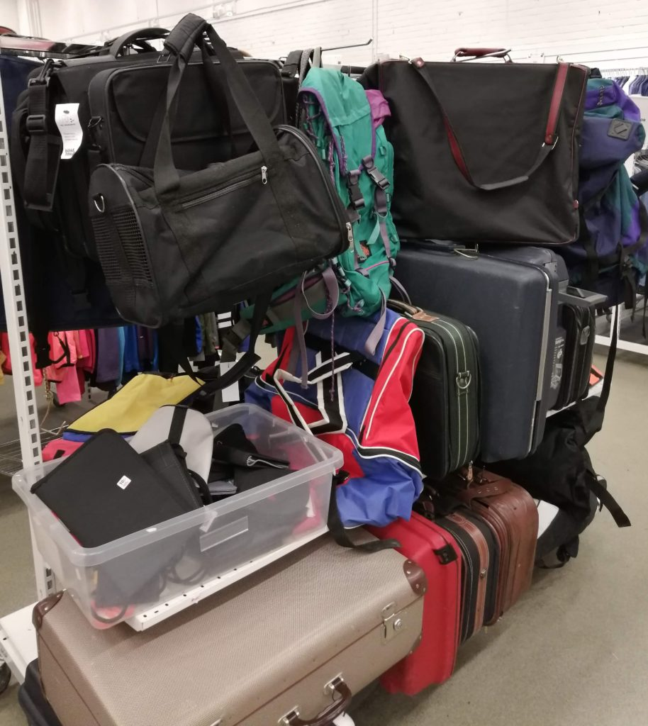 Emmaus bags and suitcases
