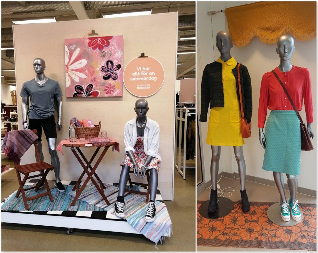 Erikshjälpen Borås Clothing Display