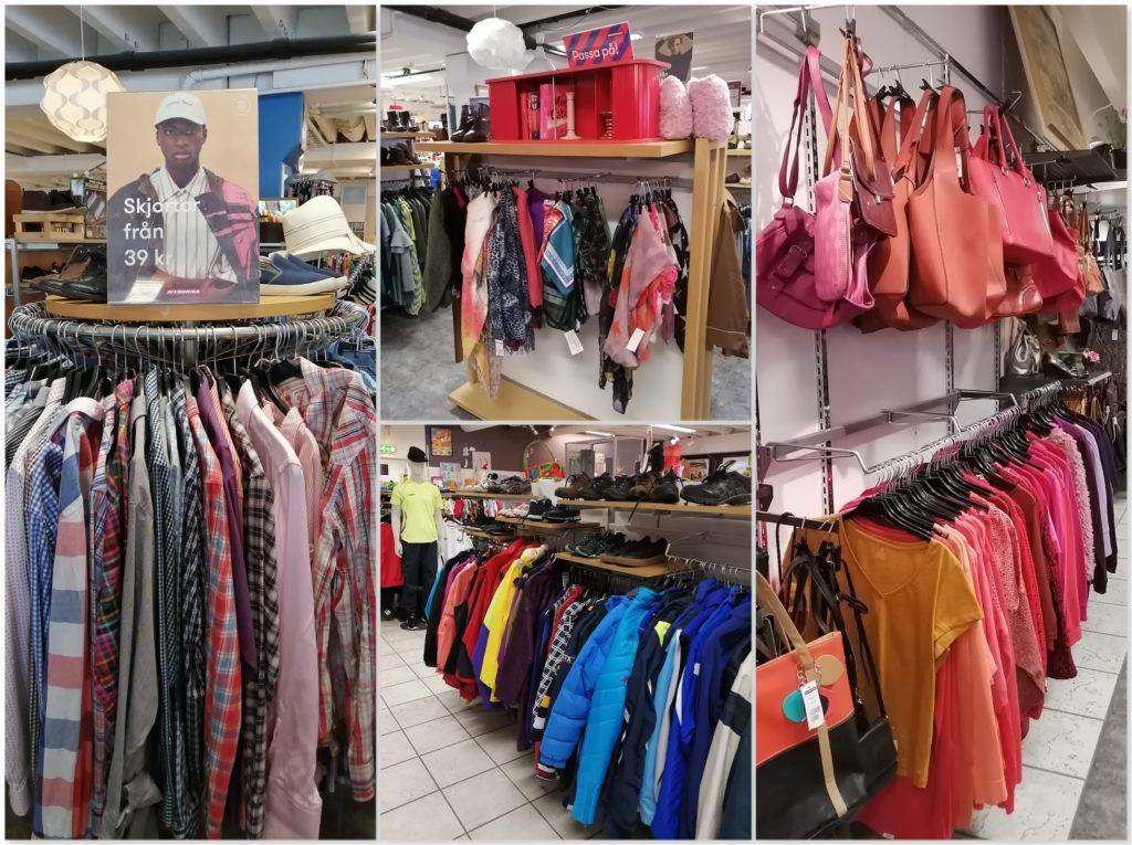 Myrorna Borås Clothing Sections