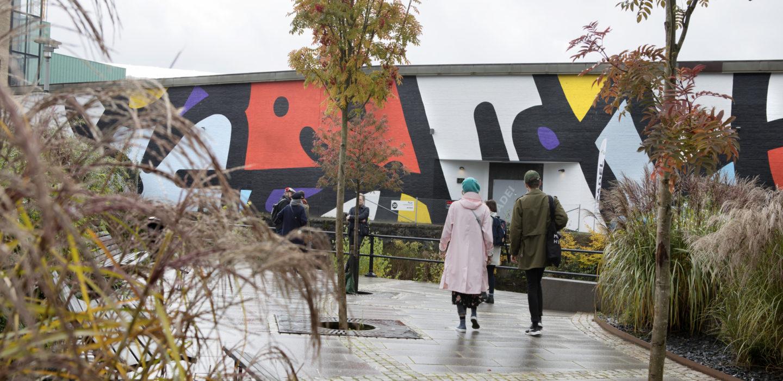 Street art on building in Borås